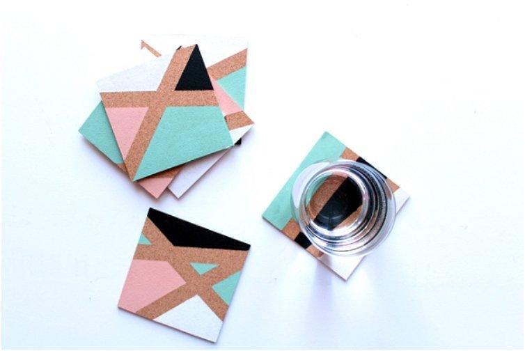 Color Block Coasters