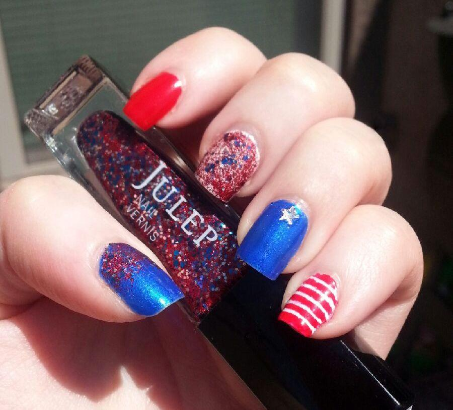 Easy Patriotic Nails