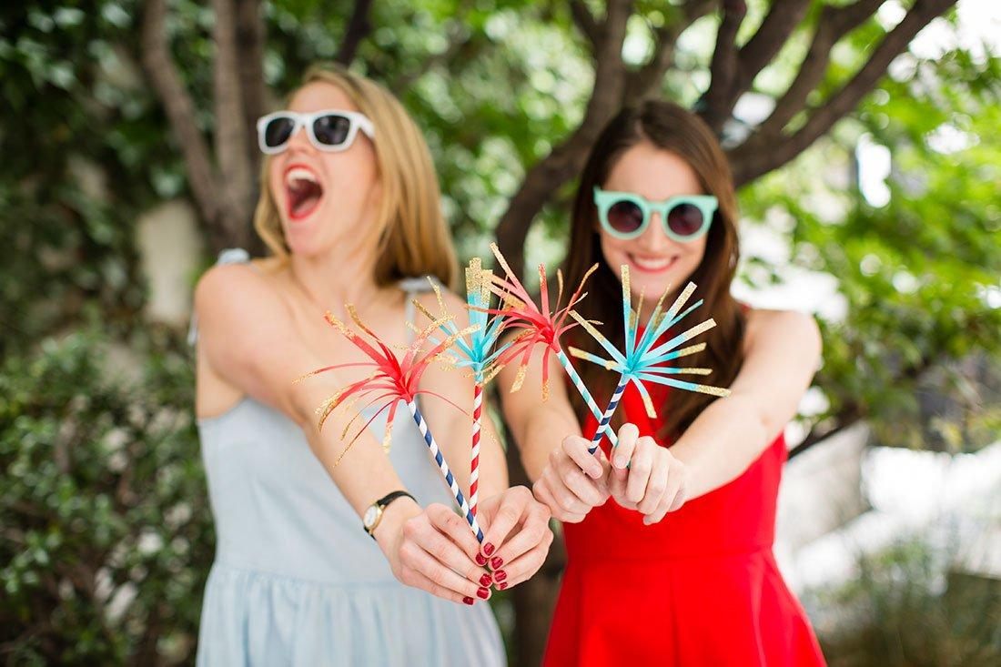 Fake Sparklers for July 4th