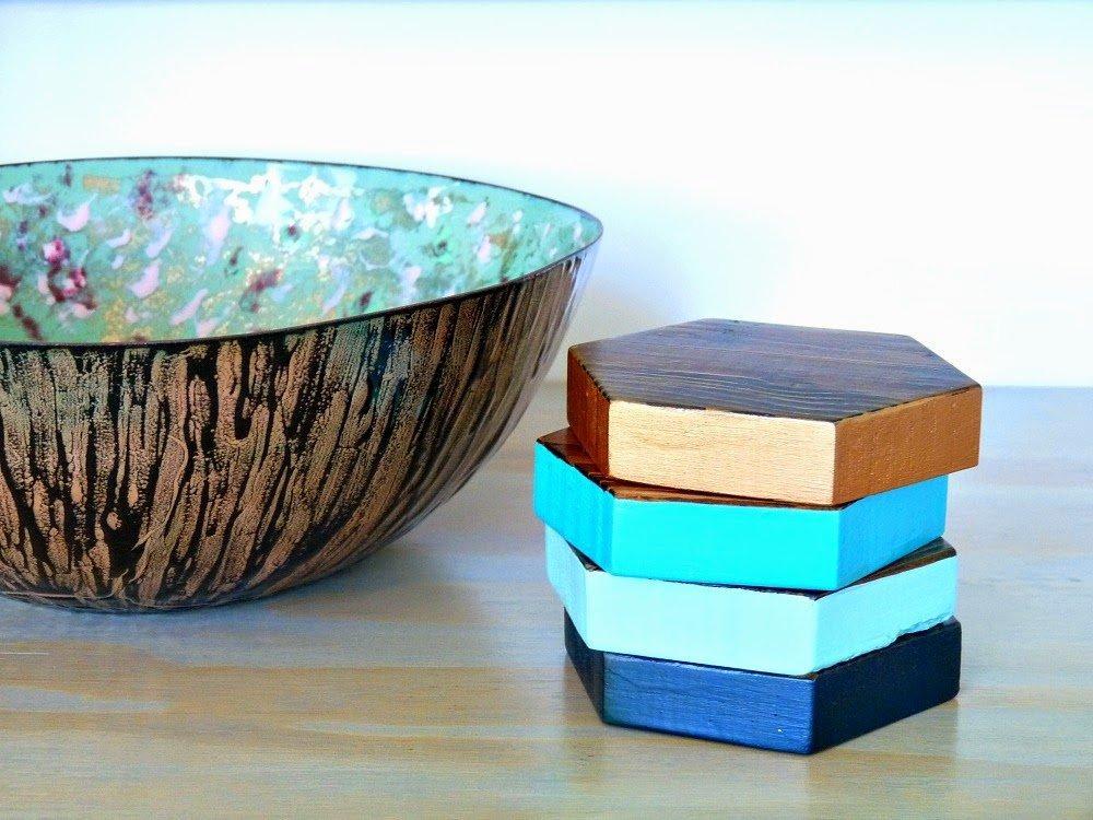 Hexaconal Wood Coasters