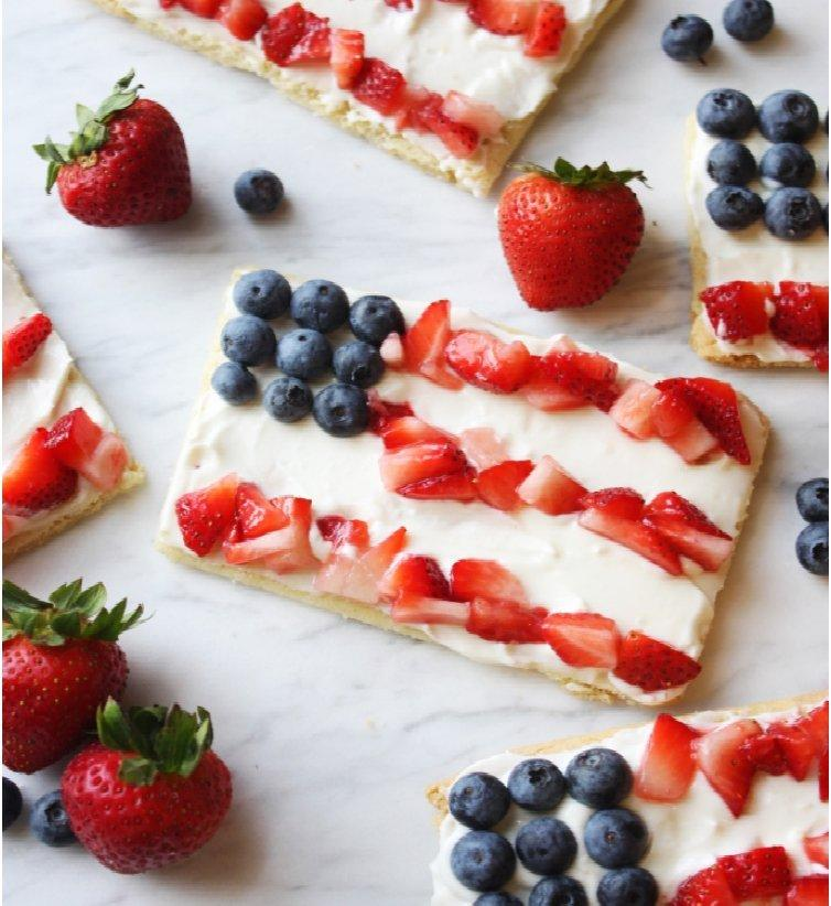 INDIVIDUAL 4TH OF JULY FRUIT PIZZAS