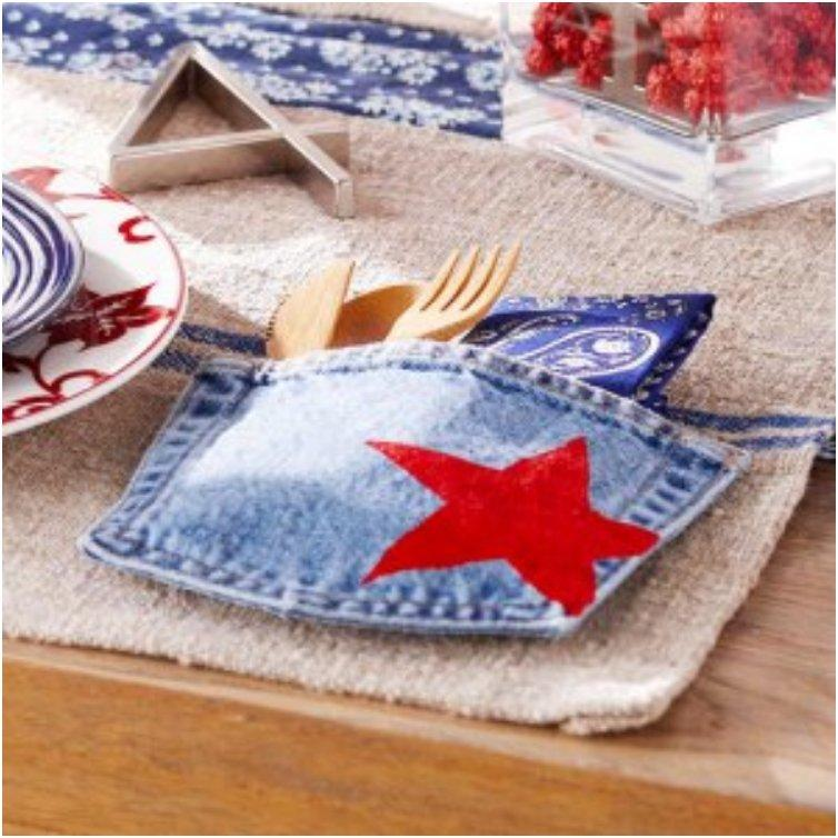 Patriotic Denim Pocket Place Setting