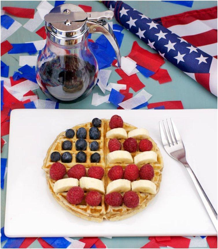 Red, White And Blue Waffle