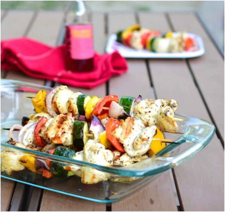 Red Wine Grilled Chicken Skewers