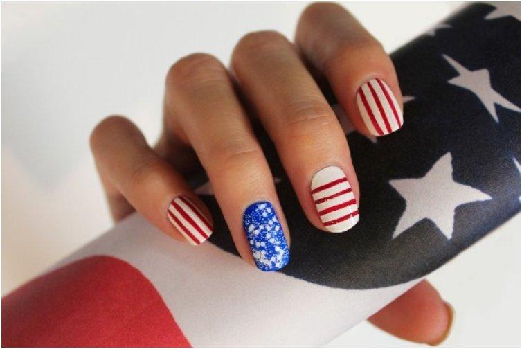 Stars and Stripes Nail Art
