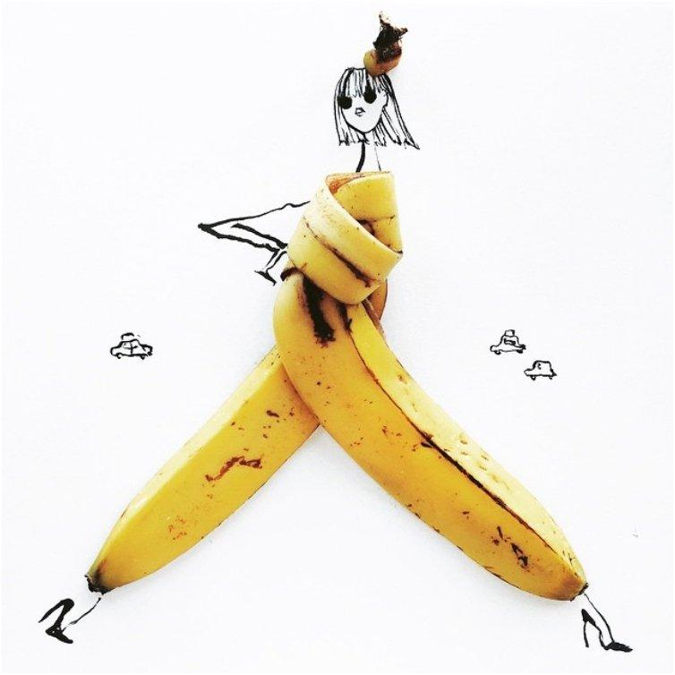 Through 19 Sketches This Illustrator Gave Food A Taste Of Fashion