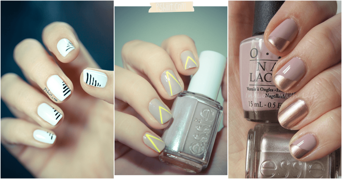 14 minimalist diy nails you would want to make asap solutioingenieria Image collections