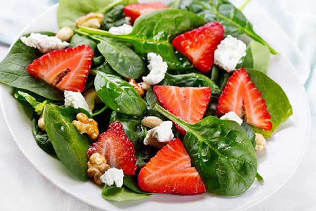 Strawberry Spinach Salad Recipes With Strong Health Benefits