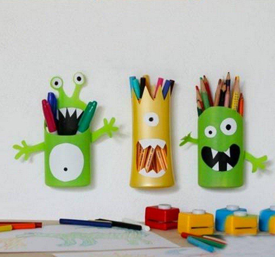 How To DIY: A Simple Monster Pencil Holder With Your Kids