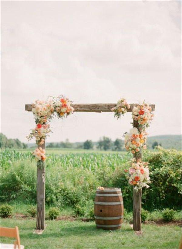 18 wedding arch decoration ideas with flowers and love junglespirit Gallery