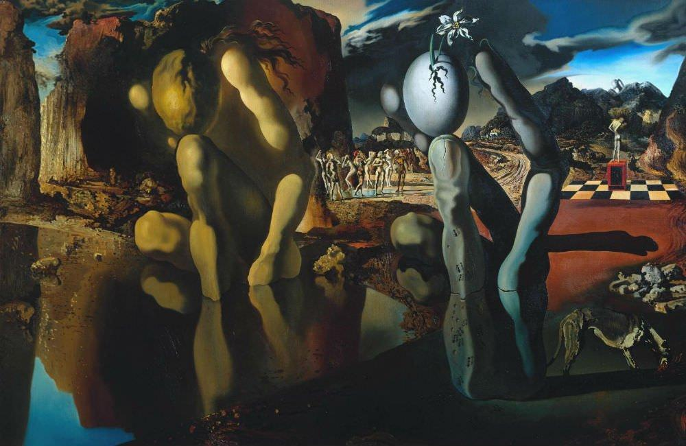 Metamorphosis of Narcissus - Salvador Dali Paintings