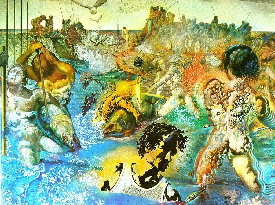 tuna fishing - Salvador Dali Paintings