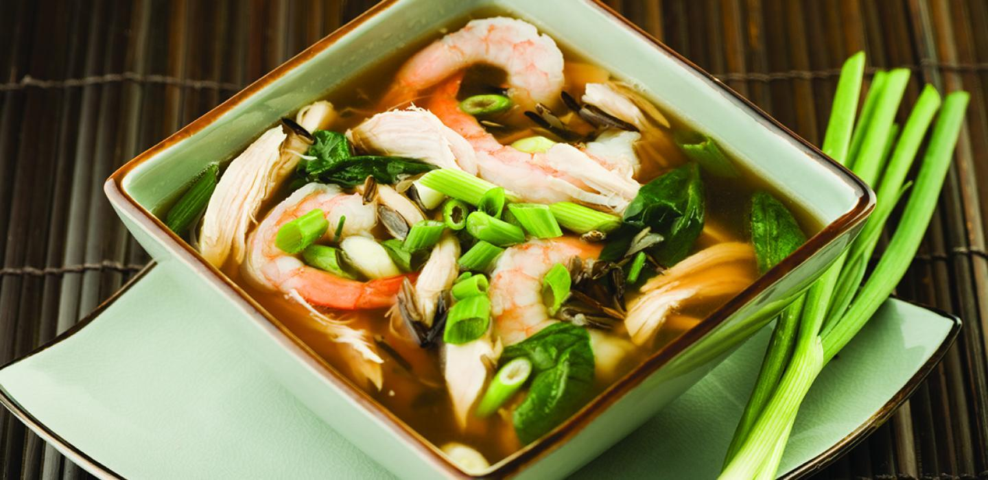 Chinese Chicken Rice Soup