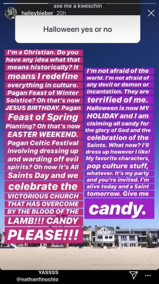 Halloween Is Coming: Hailey Bieber Will Be Celebrating As A Christian Woman Claiming Candy