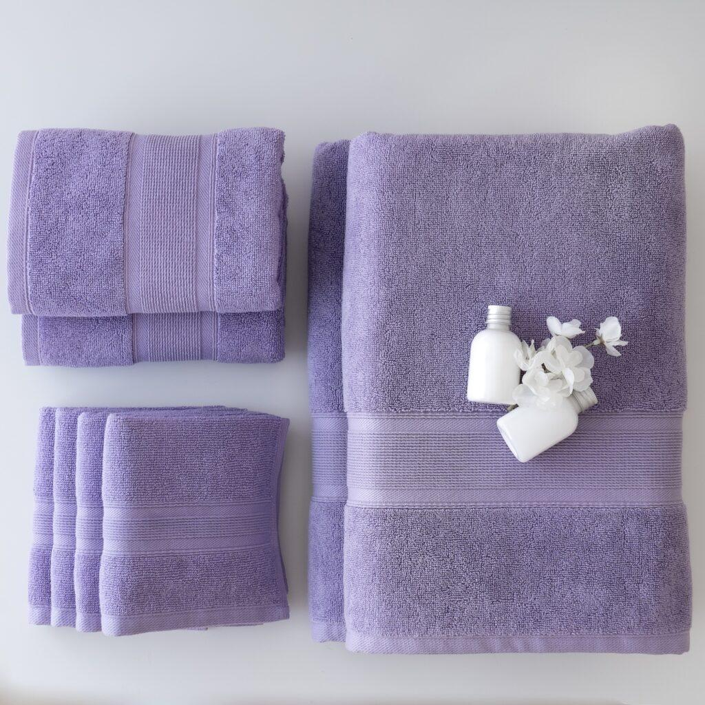 purple towel gift set
