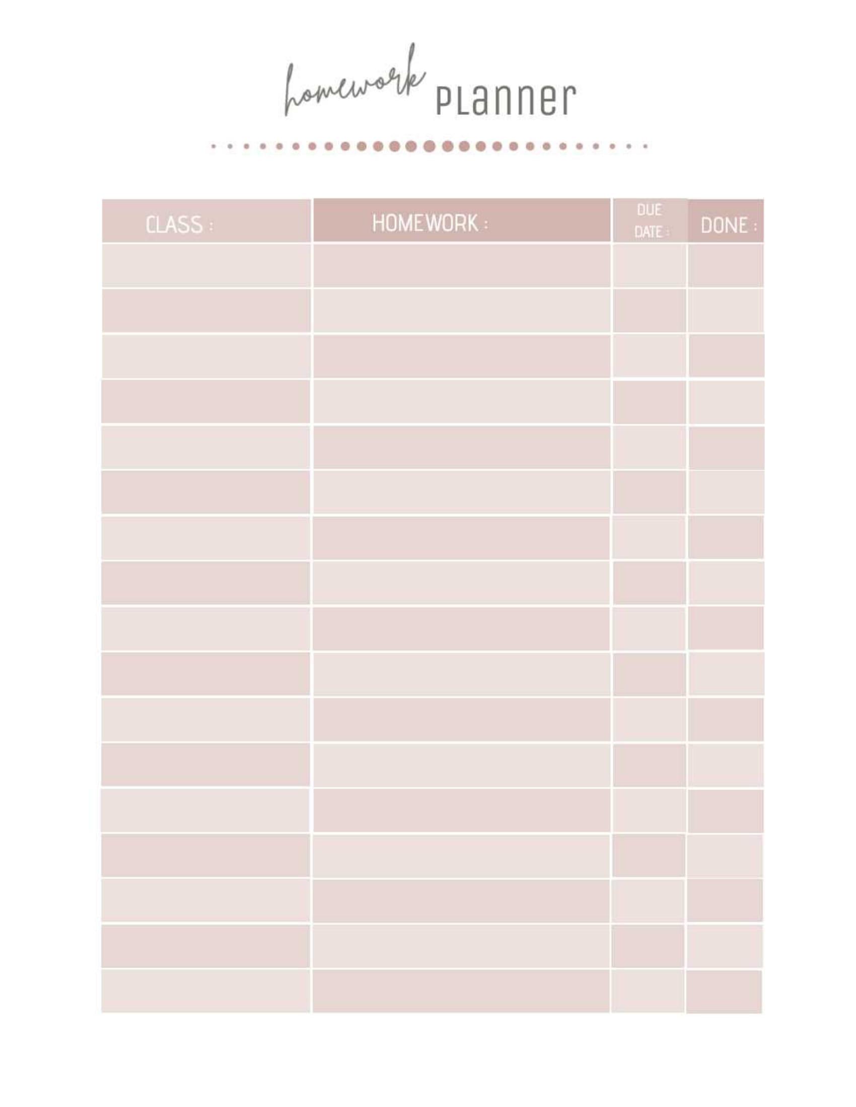 Homework Planner 2